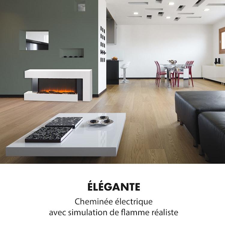 Studio Light & Fire 2 Cheminée 1000/2000 W MDF télécommande - blanche Fire 2