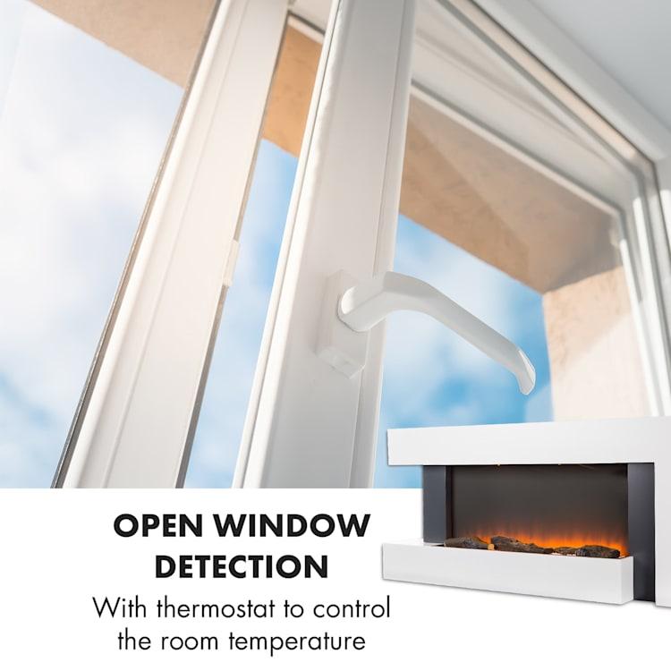 Studio Light & Fire 2 Fireplace 1000 / 2000W MDF Remote Control White Fire 2