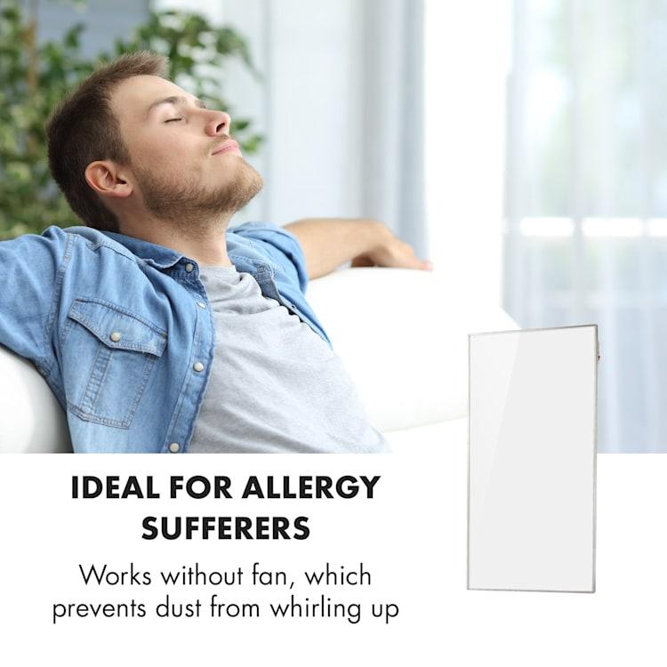 Wonderwall Smart infrarood verwarming 50x90cm 450W weektimer IP24 wit 450 W