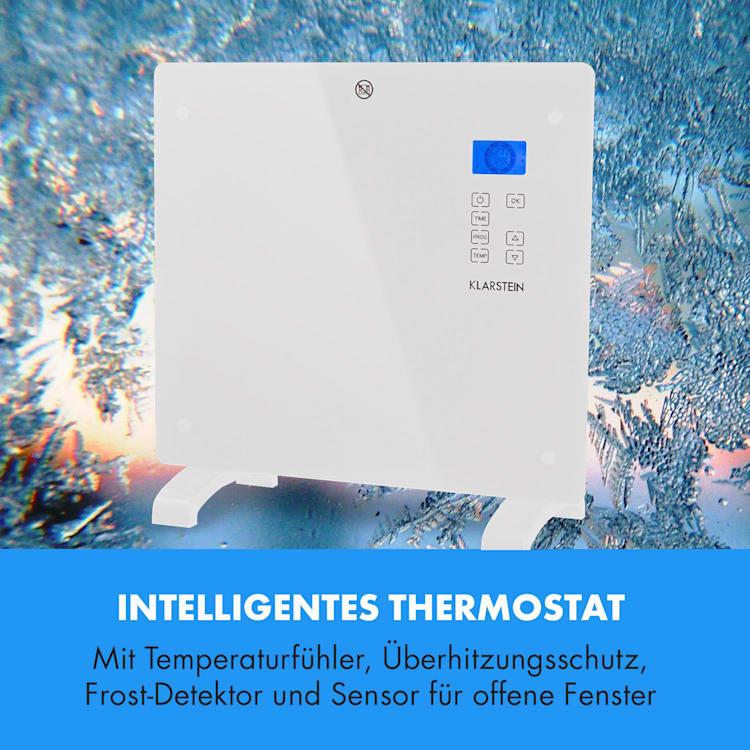 Norderney Konvektions-Heizgerät Thermostat Timer 1000W 20m² weiß Weiß   1000 W
