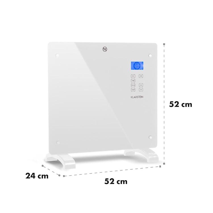 Norderney Aquecedor de Convenção Termostato Temporizador 1000W 20m² Branco Branco | 1000 W
