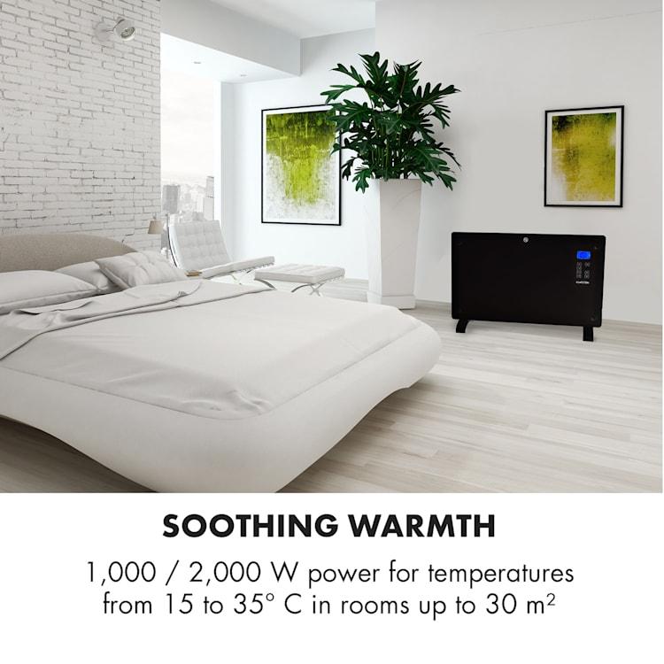 Norderney, konvekciós hősugárzó, termosztát, időzítő, 2000 W, 30 m², fekete Fekete | 2000 W