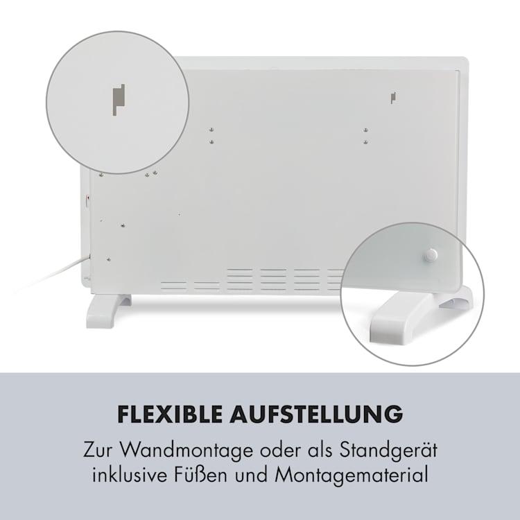 Norderney Konvektions-Heizgerät Thermostat Timer 2000W 30m² weiß Weiß | 2000 W