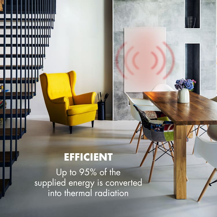 Wonderwall 960 Smart radiateur infrarouge 80x120 cm 960W minuterie hebdomadaire blanc 960 W