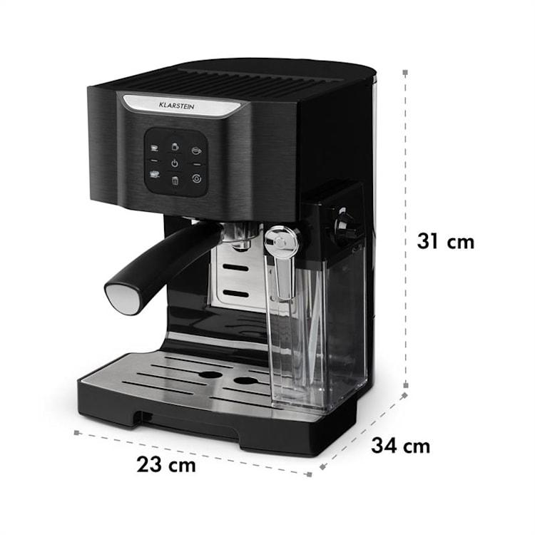 BellaVita Kaffemaskin, 1450 W, 20 Bar, Mjölkskummare, 3in1, svart Svart