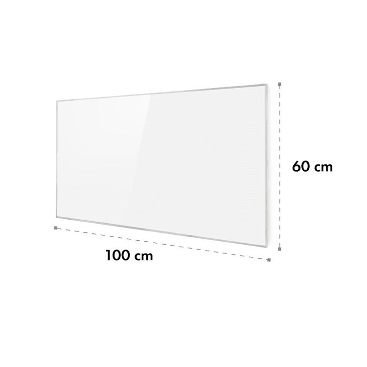 Wonderwall 60, infrapanel, infračervený topný panel, 60 x 100 cm, 600 W, týdenní časovač, IP24, bílý 60 x 100 cm