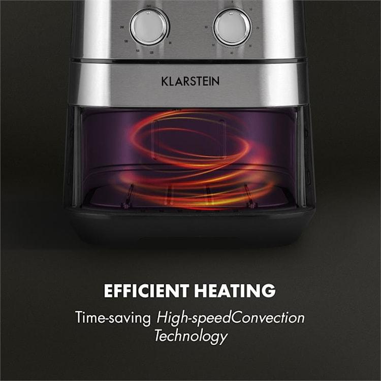 AeroVital Friteuse à air chaud 5,4L 1700W thermostat timer inox argent