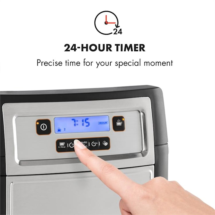 Aromatica II Duo Machine à café broyeur intégré 1,25L 10 tasses - noir Argent | Verseuses verre & thermos