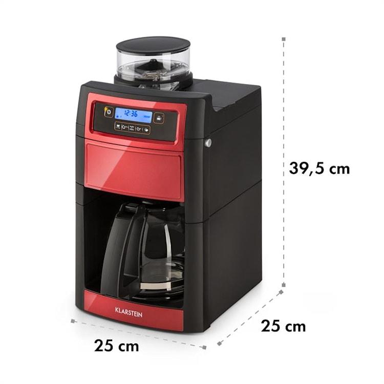 Aromatica II Duo, kavni aparat, vgrajen mlinček, 1,25 l, rdeč Rdeča   Jug_glass_thermo