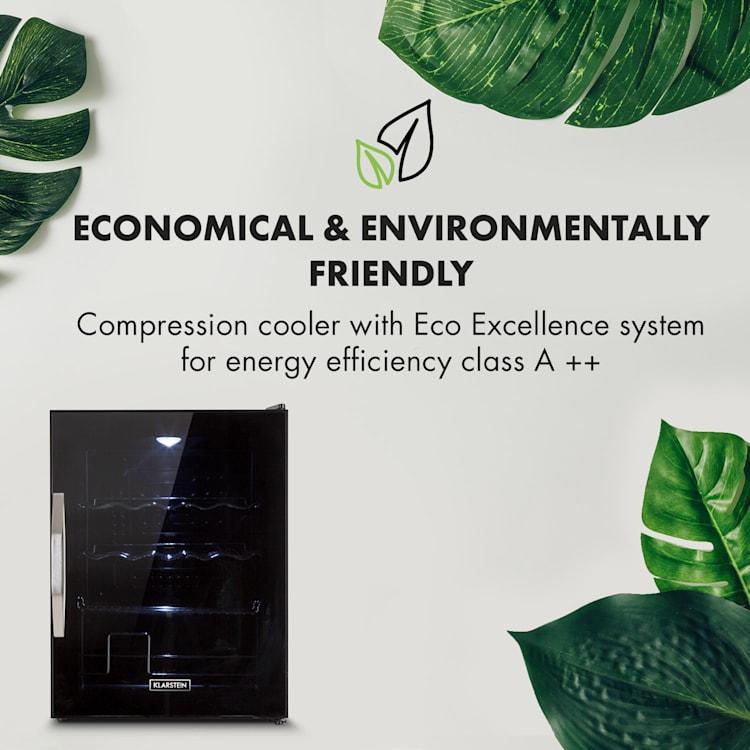 Beersafe XL Onyx refrigerator 60 lites 4 shelves panorama glass door 60 Ltr