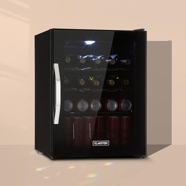 Beersafe XL Onyx Kühlschrank 60 Liter 4 Böden Panoramaglastür 60 Ltr