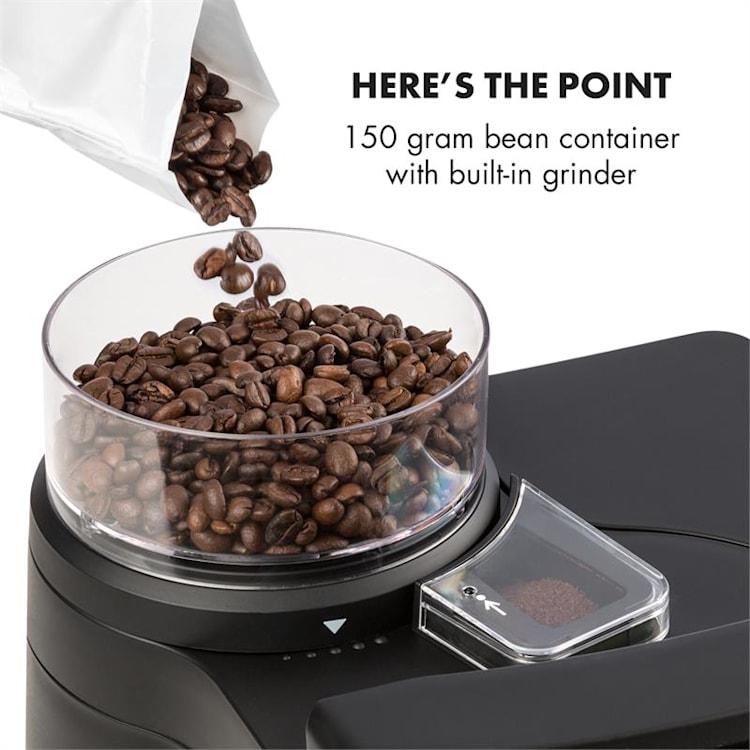Aromatica II, kávéfőző, beépített daráló, 1.25 l, ezüst Ezüst | Üveg kancsó