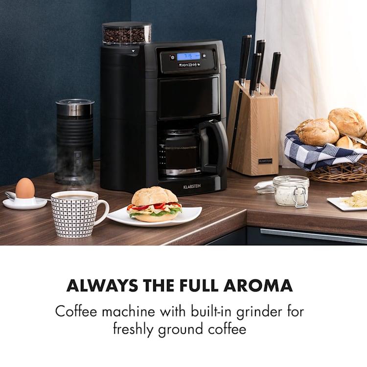 Aromatica II Coffee Machine, Grinder, 1.25 l, Black Black   Glass jug