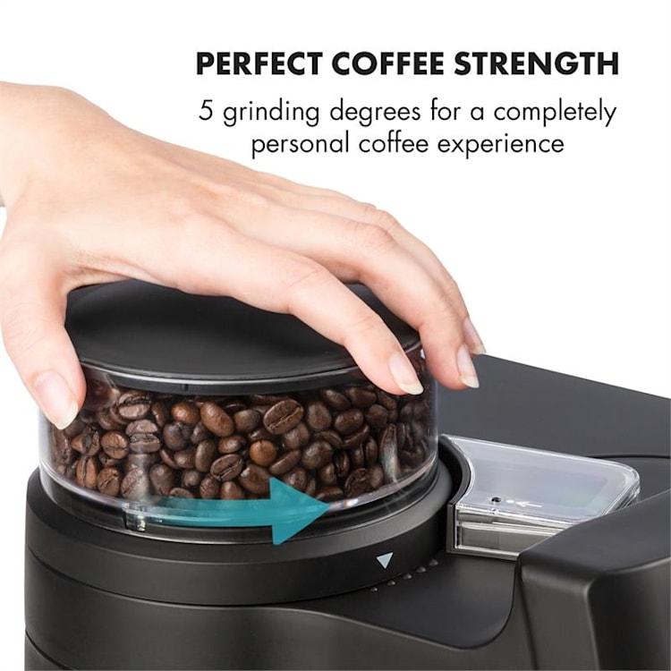 Aromatica II Thermo ekspres do kawy młynek 1,25 l czarny                                                                Czarny | Termos