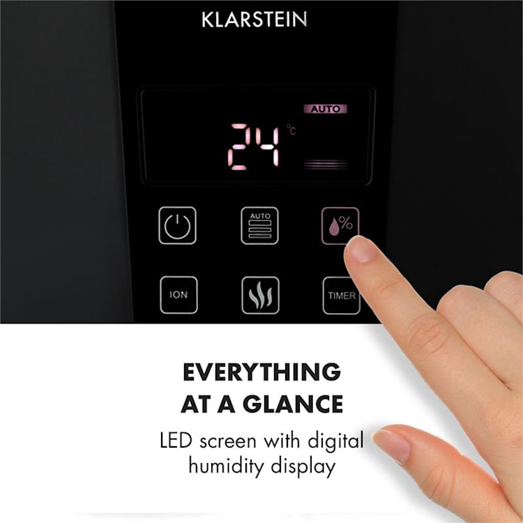 Vapoair Onyx, ovlaživač zraka, LED touchscreen, daljinski upravljač, crni