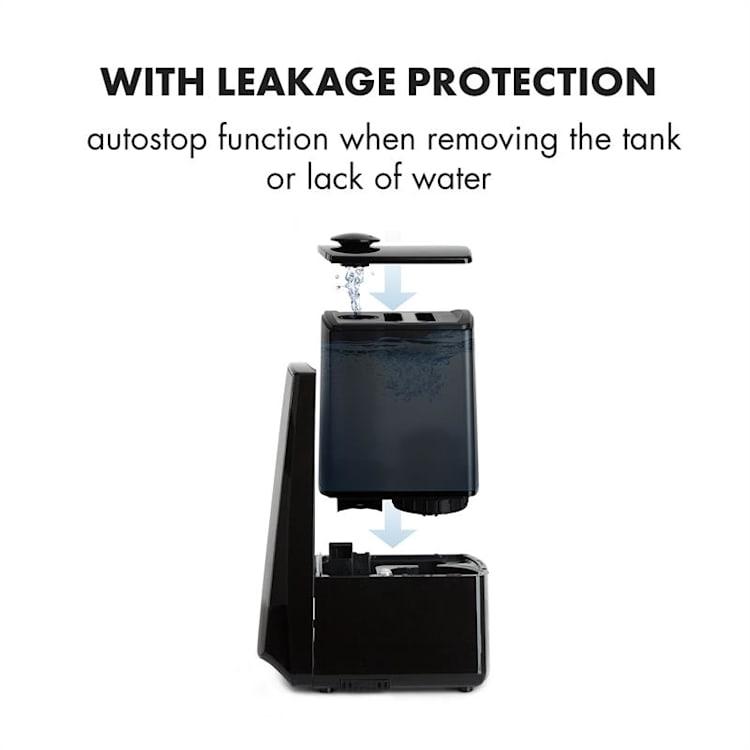 VapoAir Opal luchtbevochtiger led screen afstandsbediening zwart/antraciet Zonder WiFi