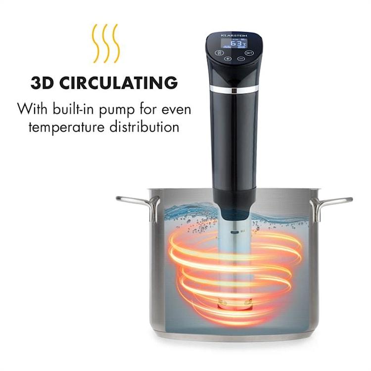 Quickstick Flex 1300W 3D Circulating 0-95 °C IPX7 Timer schwarz Schwarz