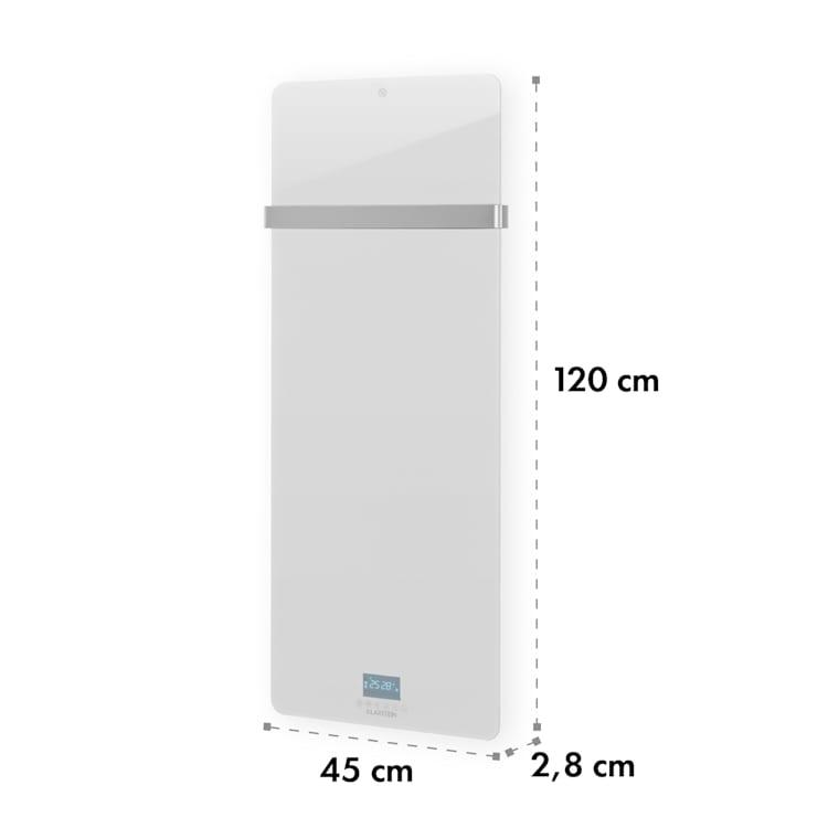 Hot Spot Crystal IR värmepanel 45x120cm 20m² 850W 5-40°C LED IP24 vit Vit