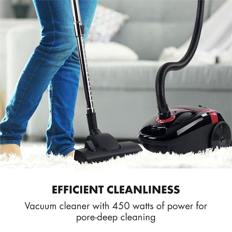 Mister Eco Vacuum Cleaner 450W HEPA13 EEC-A ++ Black / Red Red