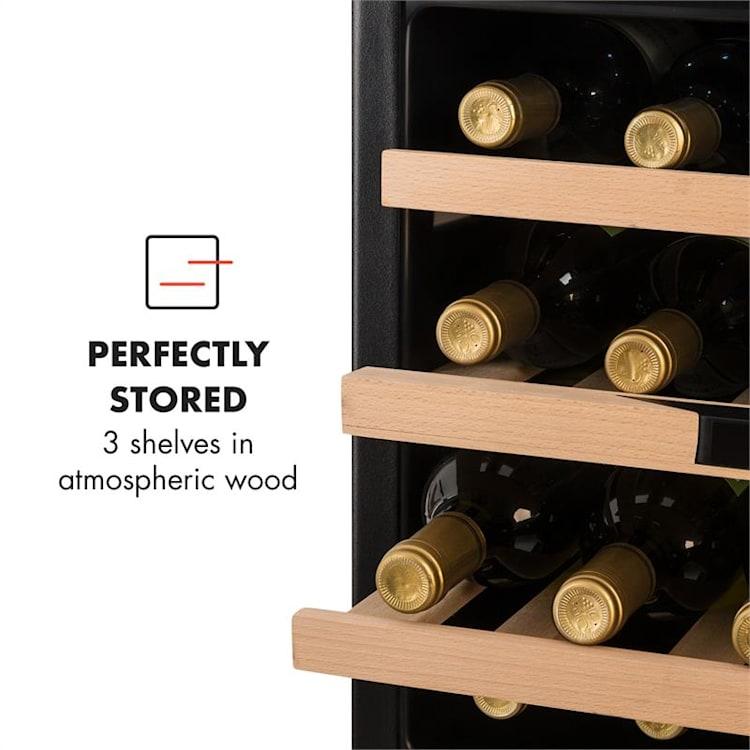 Vinsider 24 Built-In Uno Onyx Edition Built-In Wine Fridge 24 Bottles 57 L Black