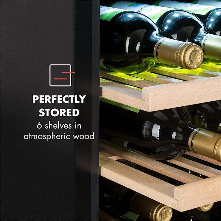 Vinsider 35D Onyx Edition Weinkühlschrank Einbaugerät Energieklasse C Schwarz