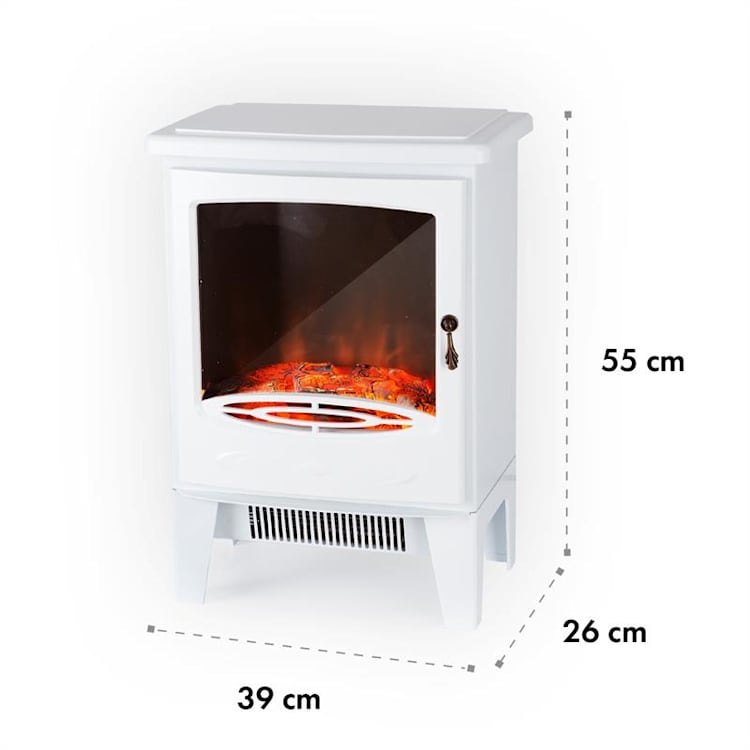 Meran Electric Fireplace 950 / 1850W InstaFire Dimmable White White