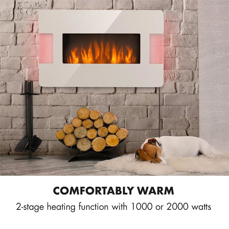 Belfort Light & Fire Electric Fireplace 1000 / 2000W Remote Control White