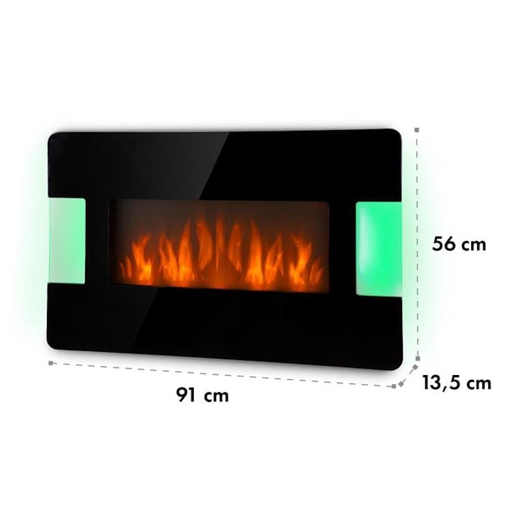 Belfort Light & Fire Electric Fireplace 1000 / 2000W Black Black