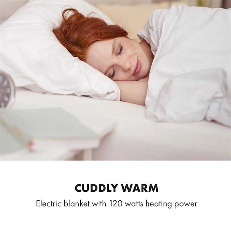 Dr. Watson Comfort & Style Manta eléctrica 120W 180x130cm Piel sintética Beige