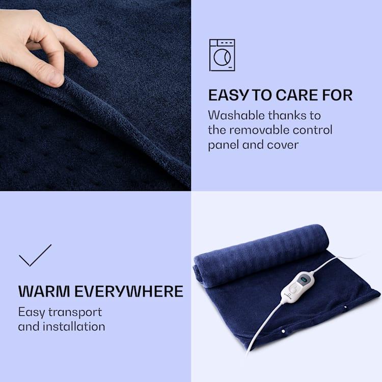 Dr. Watson Heatzone XL Tapis chauffant 100W 75x50cm micro peluche bleu Bleu Foncé