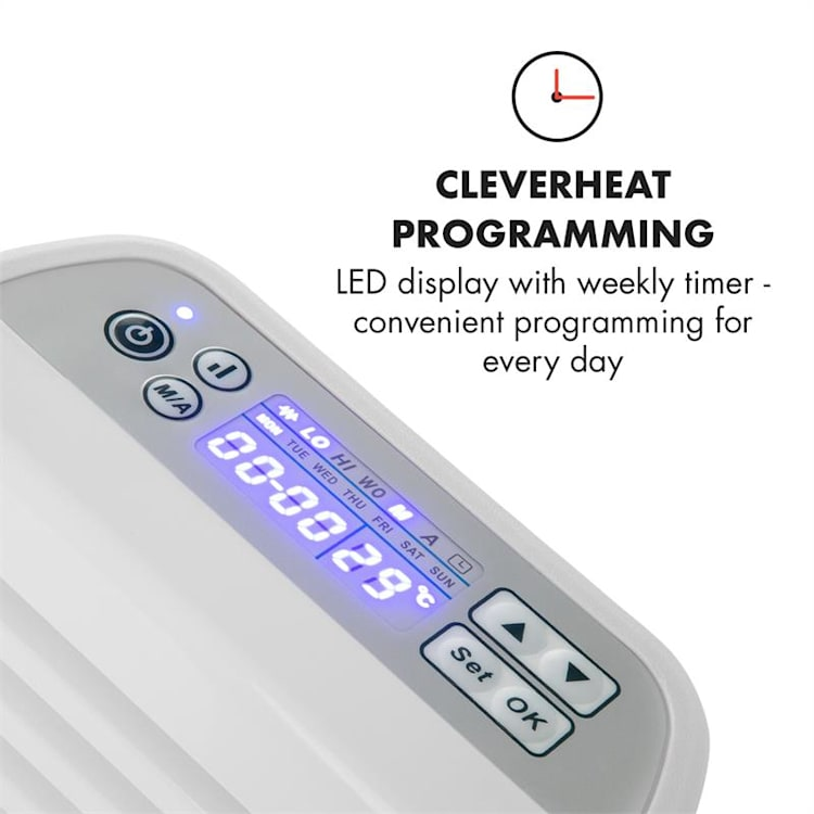 Hot Spot Slimcurve Aquecedor 80x40cm 40m² 2000W 5-40°C LED IP24 Branco Branco