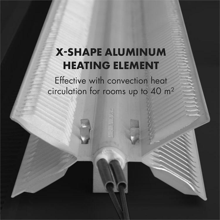 Hot Spot Slimcurve Heizgerät 80x40cm 40m² 2000W 5-40°C LED IP24 schwarz Schwarz