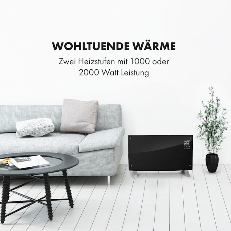 Bornholm Curved Ambient Konvektionsheizgerät 1000/2000W schwarz Schwarz
