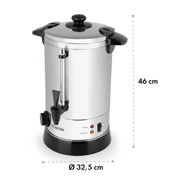 Geysir, aragaz pentru băuturi, aproximativ 40 de căni, 30 - 110 °C, oțel inoxidabil 40 cups