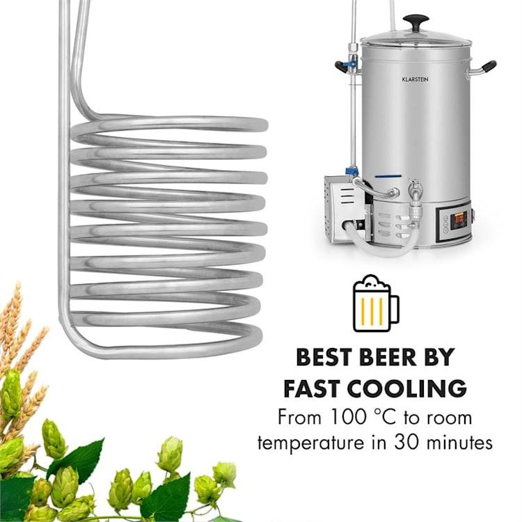 Chiller 6 Refrigeratore ad Immersione Ø20 cm 9 circuiti 304 Acciaio inox  9 anelli di raffreddamento