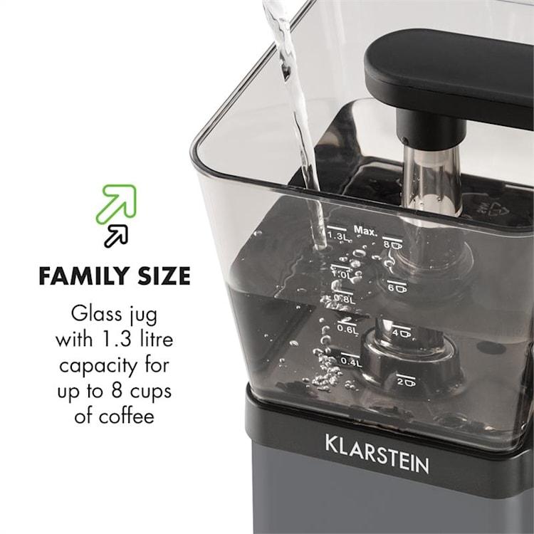 GrandeGusto, kávovar, 1690 W, 1.3 l, pre-infusion, 96 °C, čierny Čierna