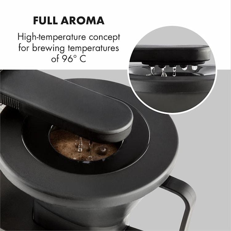 GrandeGusto, kávovar, 1690 W, 1.3 l, pre-infusion, 96 °C, čierny/metalický Metalická