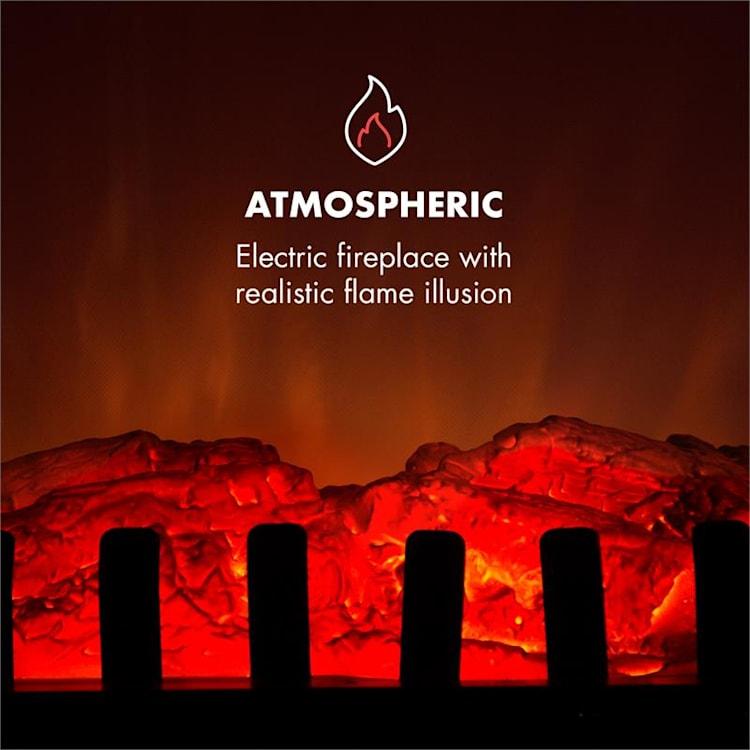 Innsbruck, elektrický krb, 1000/2000 W, termostat, biely Biela