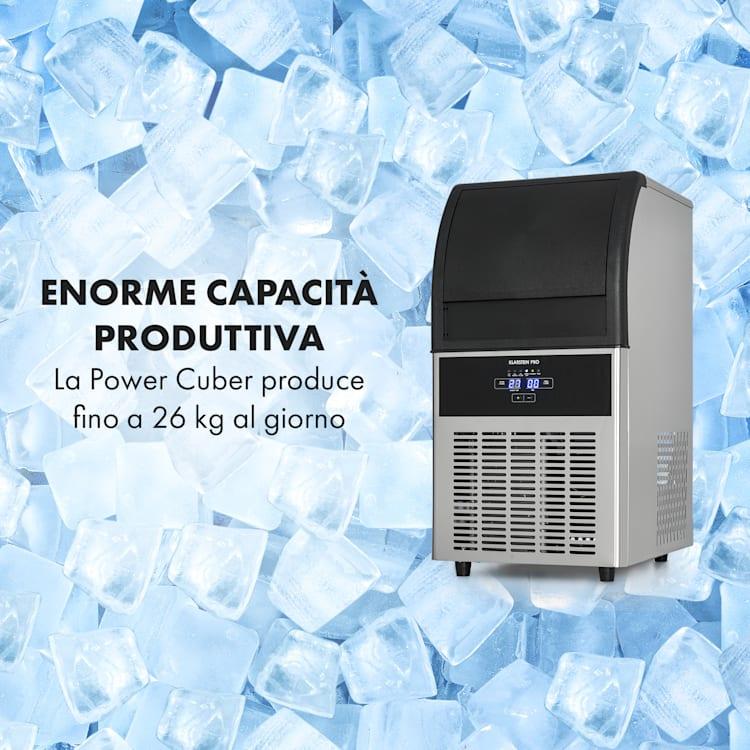Antarctica macchina del ghiaccio 270W 15l 26kg/24h acciaio inox nero