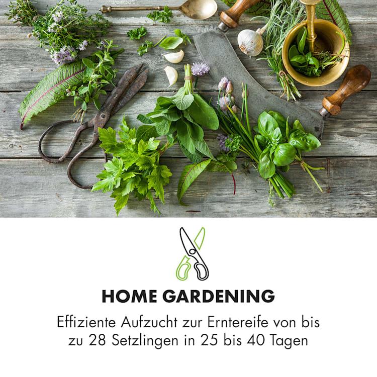 GrowIt Farm Smart Indoor Garden 28 Pflanzen 48W LED 8 Liter 28 Pflanzen