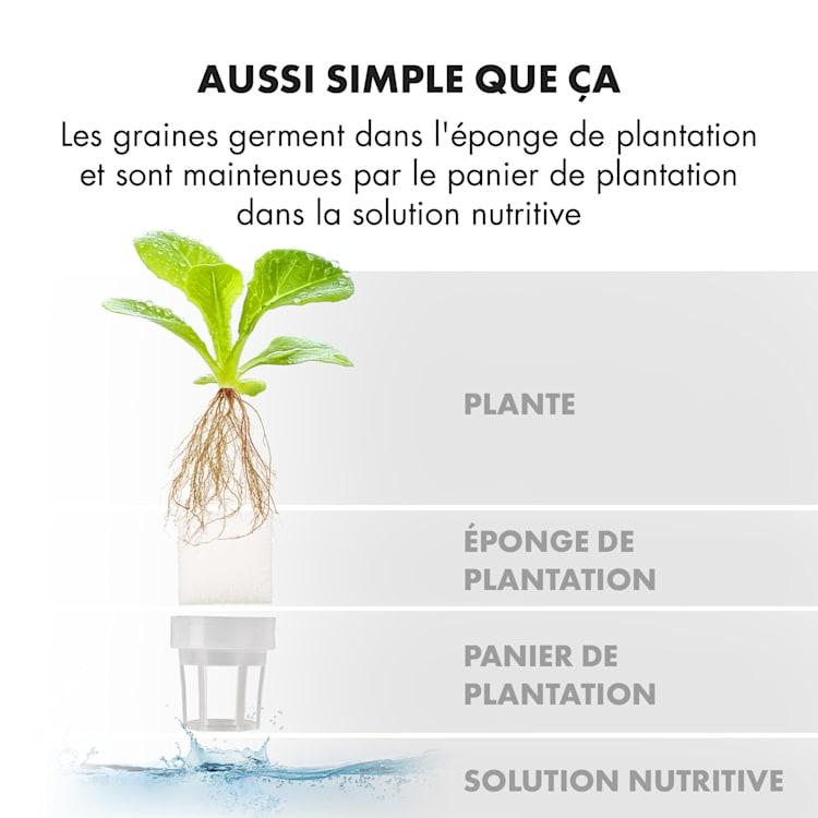 GrowIt Farm Smart Jardin hydroponique 28 plantes 8 litres 48W 196x LED 28 plantes