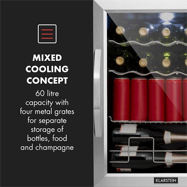 Beersafe XL Mix It Edition, chladnička, A++, LED, 4 kovové rošty, skleněné dveře