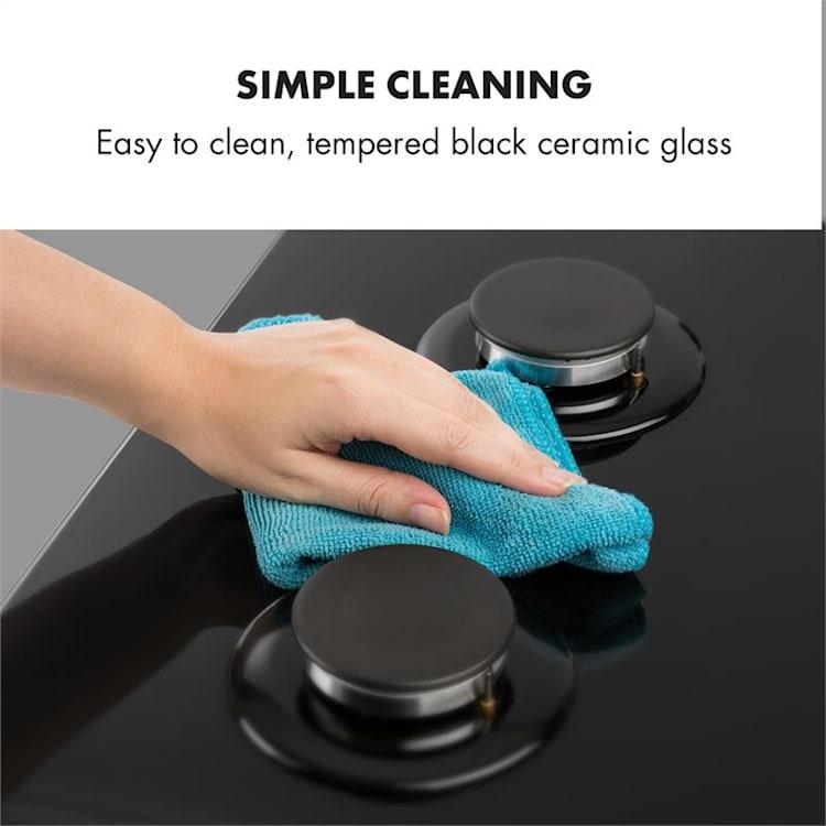 Ignito 5 Zone Gas Hob 5-Burner Sabaf Burner Glass Ceramic Black Black | 5 burners