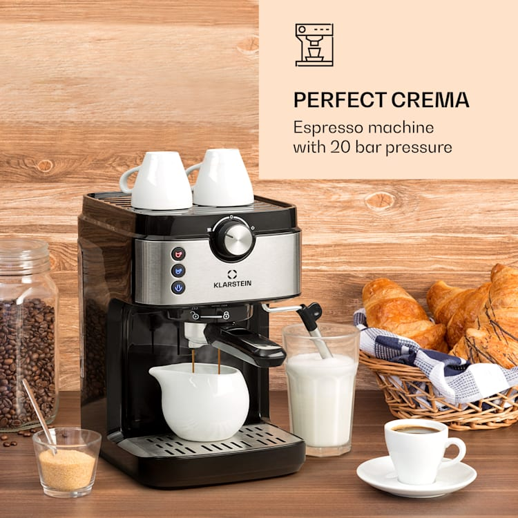 BellaVita Espresso, kavni aparat, 20 bar, 1575 W, 900 ml, srebrna