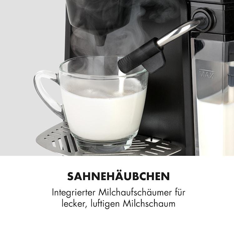 Baristomat 2-in-1-Heißgetränkeautomat für Kaffee, Tee & Milchschaum 6 Programme
