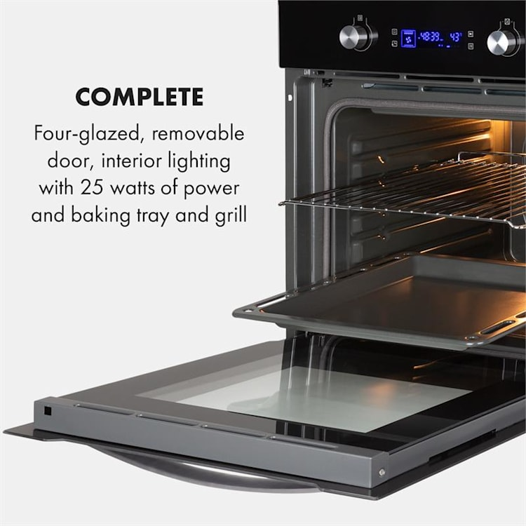 Gusteau Built-in Electric Oven 2950W 8 Functions Black Black