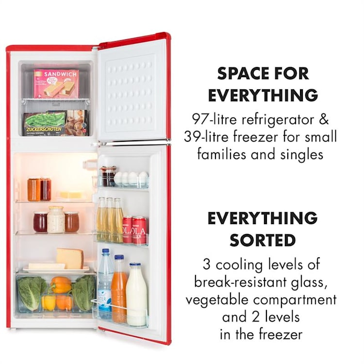 Klarstein Audrey Mini Retro refrigerator