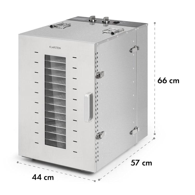 Master Jerky 16, szárítógép, 1500 W, 40 - 90 °C, 15órás időzítő, nemesacél, ezüst 16 tálca