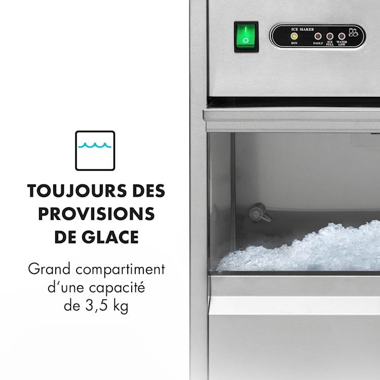 Frostica Machine à glaçons & glace pilée pour pro 20 kg/24 h - inox ar