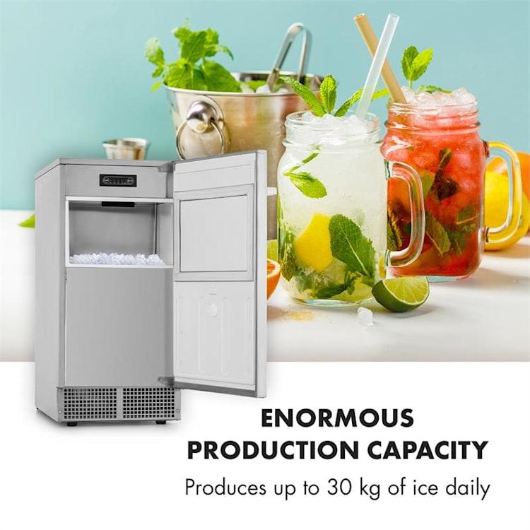 Icetender, zariadenie na výrobu ľadu, nugety, 30 kg/24 hod., ušľachtilá oceľ, strieborné
